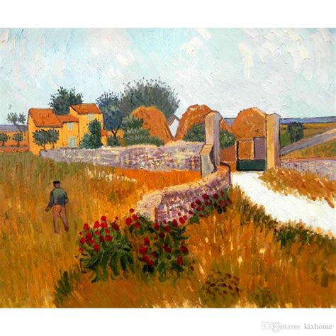 vincent van gogh paintings  farm house  provence