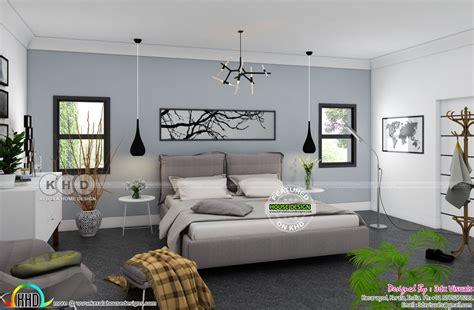 bedroom contemporary residence exterior  interiors