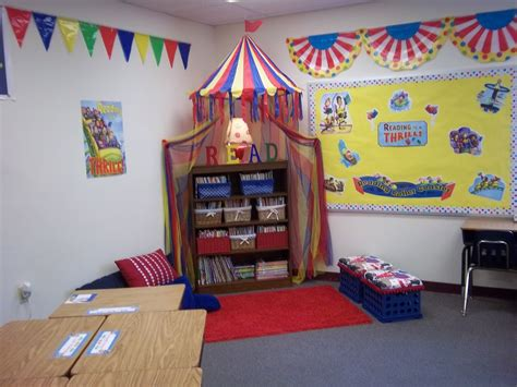 themes for reading areas carnival themed reading corner classroom decor carnival