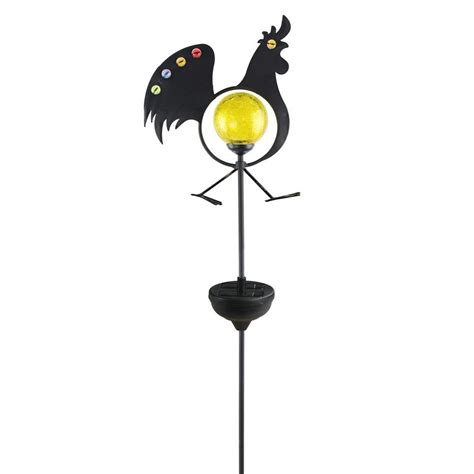Moonray Solar Lights Moonrays Solar Powered White Led Jeweled Rooster Stake