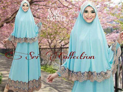 Klarisa Syari nobita syar i biru telur asin baju muslim gamis modern