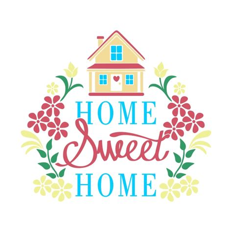 home sweet home cuttable design