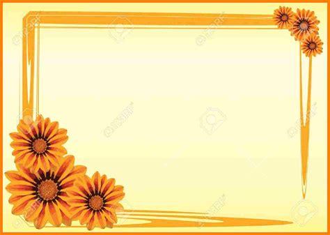 border design flower yellow 3 border design simple yellow science resume