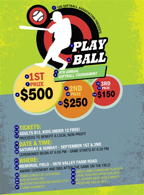 baseball fundraiser flyer template softball flyer ticketprinting
