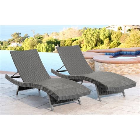 abbyson living chaise abbyson living elliott outdoor wicker chaise in gray set