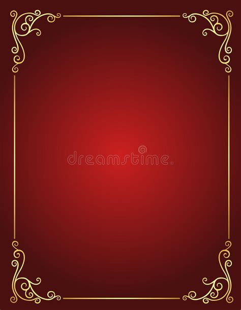 Wedding Invitation Border Eps by Wedding Invitation Border In And Gold Stock Vector