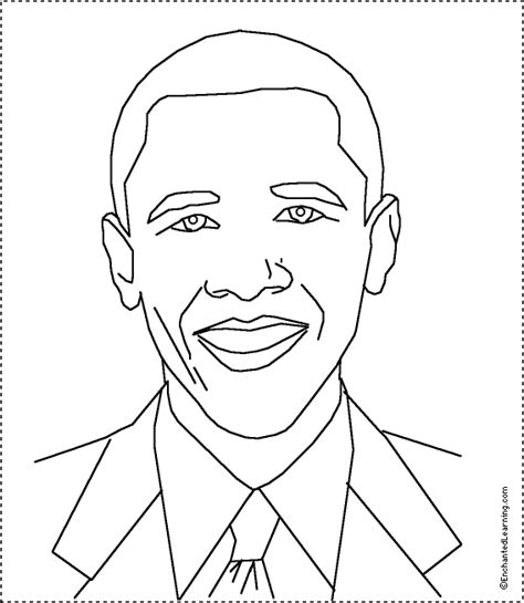 barack obama coloring printout enchantedlearning com