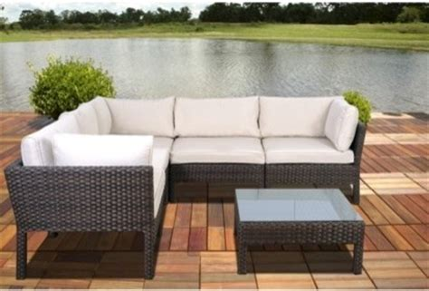 south 6 wicker patio sectional seating