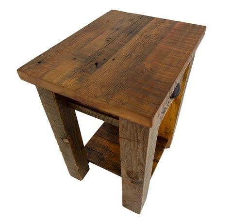 rustic barnwood nightstand  corner furniture