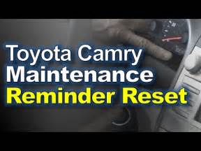 How To Turn Maintenance Light On Toyota Camry 2011 How To Reset Maintenance Light Toyota Camry 2005 2012