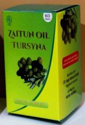 Minyak Zaitun Tursyna 100 Kapsul Tursina Olive kapsul minyak zaitun tursyna olive haifa herbal
