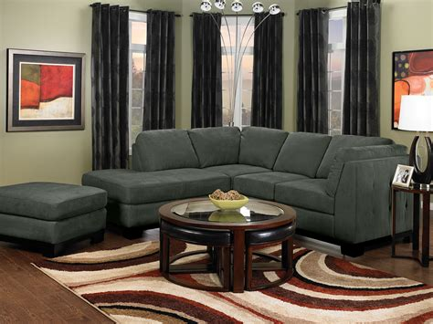 grey microsuede sectional oakdale 2 piece microsuede left facing sectional grey