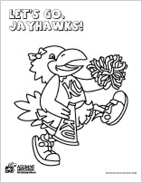 k u jayhawk colouring pages