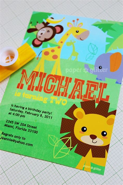 printable zoo animal invitations safari jungle animal zoo party invitation for birthday or