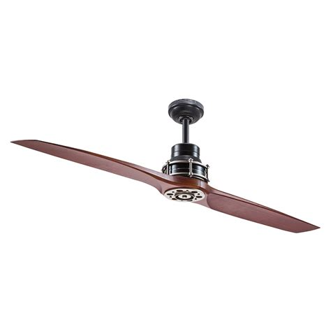 ceiling fan with two fans shop kichler lighting 56 in satin black with antique