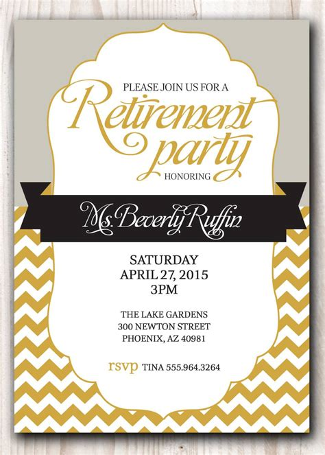 Retirement Party Invitation Template Party Invitations Templates Retirement Flyer Template