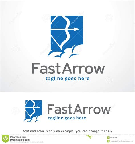 fast arrow logo template design vector vector illustration