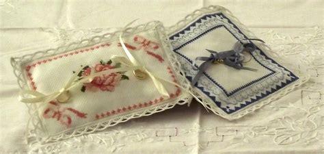 cuscino fedi punto croce cuscino portafedi a punto croce feste matrimonio di