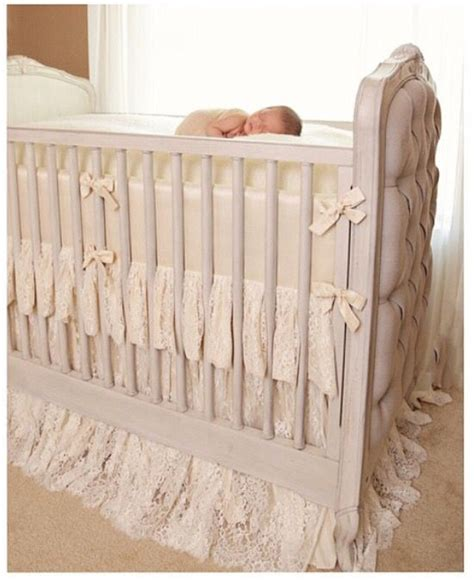 Lace Crib Skirt by Hugbug Bedding Lace Crib Skirt Baby