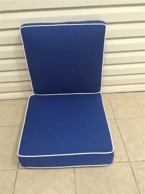 pc frontgate cobalt blue verand dining thick chair patio