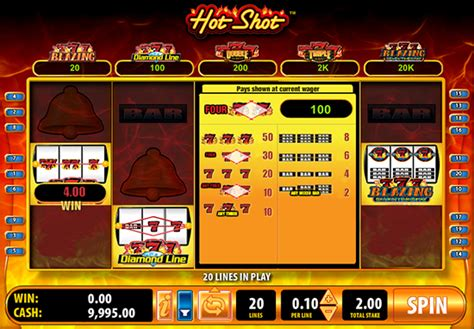 play hot shot blazing  slots hollywood casino