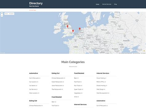 themes google maps theme directory free wordpress themes