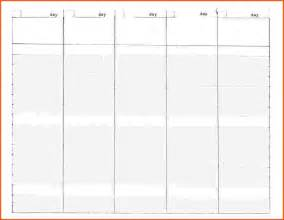 5 day work week calendar template monthly 5 day calendar template excel calendar template 2016