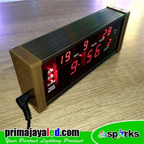 cara membuat jam dinding digital led jam digital led prima jaya led