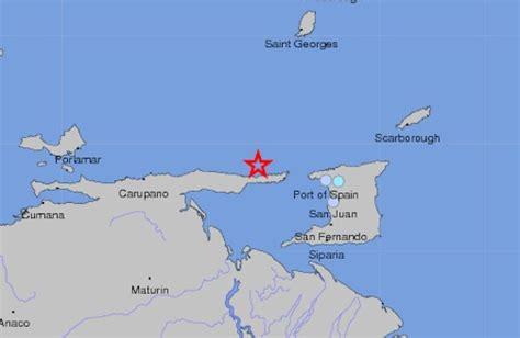 earthquake  coast  venezuela lightly shakes trinidad