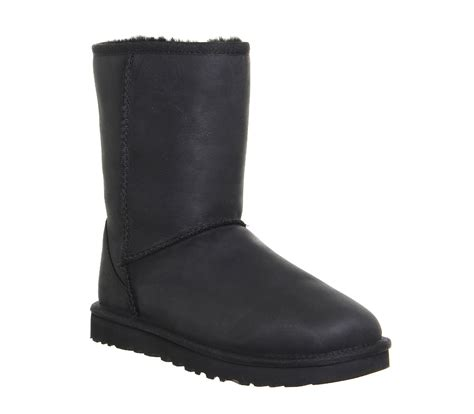 Boots Black Leather ugg australia classic boots black leather ankle boots