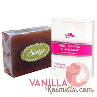 Sabun Fair In Pink brightening black soap fair n pink sabun pemutih wajah