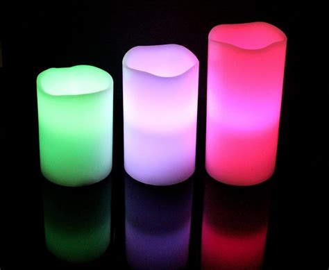color candles light up every room with ohuhu color wax flameless candle