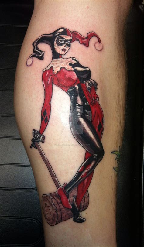 harley quinn pin up tattoo harley quinn by threedayslong on deviantart