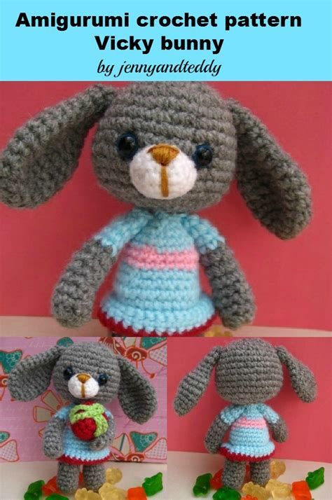pdf pattern amigurumi bunny rabbit pdf vicky bunny rabbit amigurumi crochet pattern luulla on