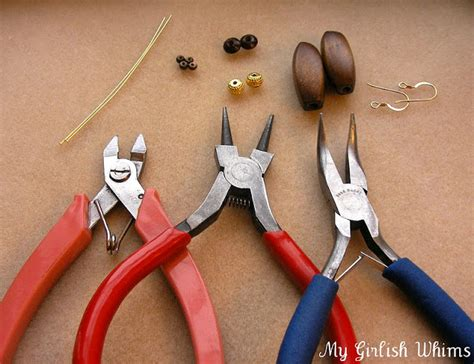 tools needed for jewelry jewelry lessons how to make earrings my girlish whims