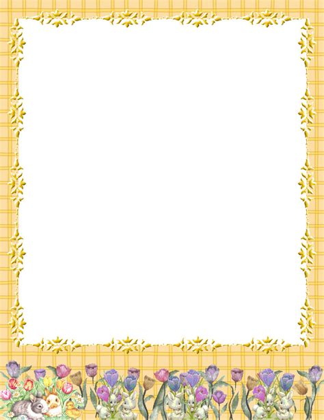 Easter Stationery Theme Free Digital Stationery Stationary Template