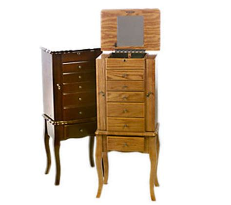 thomas pacconi jewelry armoire thomas pacconi handcrafted locking jewelry armoire qvc com