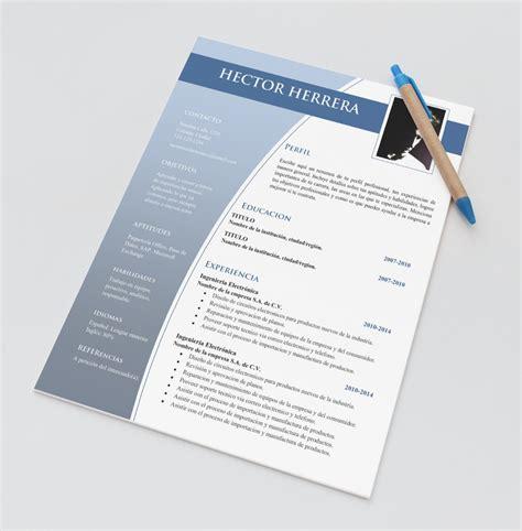 curriculum vitae plantilla editable plantilla cv curriculum vitae word resume doc editable 45 00 en mercado libre