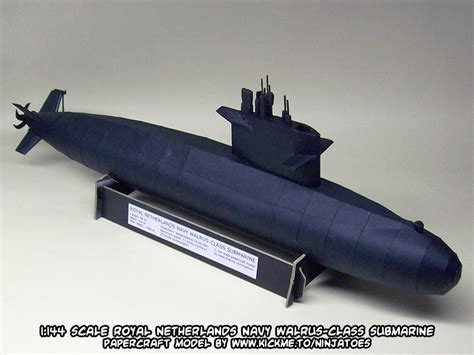 How To Make A Paper Submarine - papercraft walrus class submarine release by