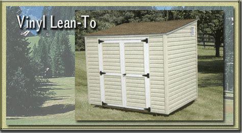 vinyl lean to storage sheds