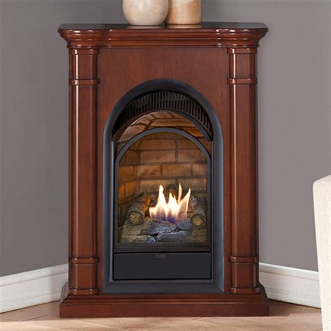 Fireplace Kits Indoor Gas by Walnut Vent Free 15k Btu 24 Quot Gas Propane Fireplace