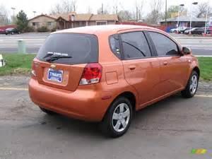 2006 spicy orange chevrolet aveo ls hatchback 8087063