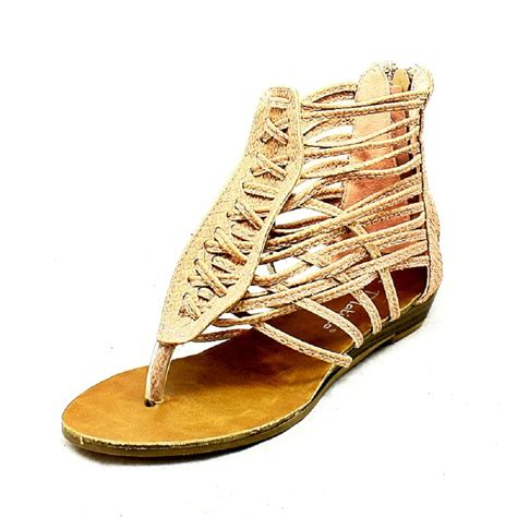 Sepatu Anak Import Branded New Gladiator Shoes Fashion Gold Silve pink flat strappy gladiator sandals ebay
