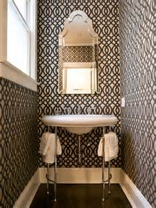 Wallpaper For Small Powder Room Sadie Stella Monday Musings Patterned Powder Rooms