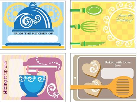 free printable gift tags for baked goods free printable baking gift tags free printable baking