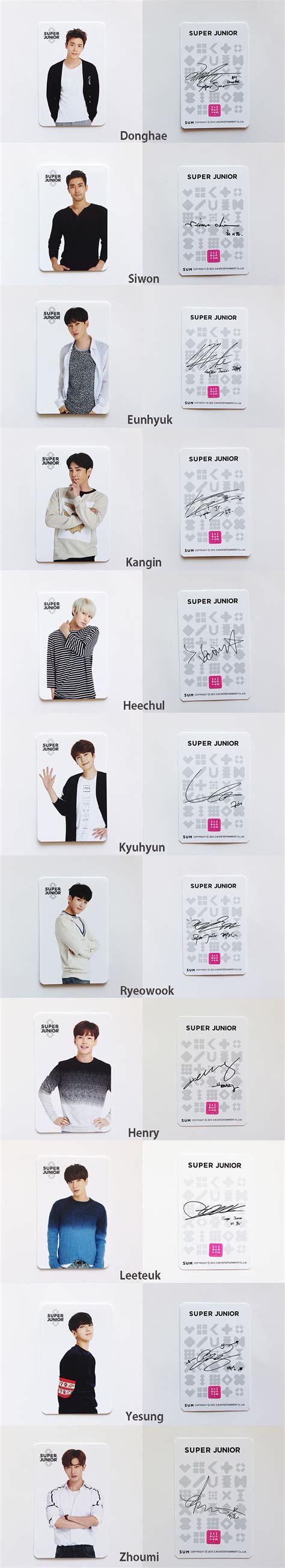 Official Photocard Ryeowook sm town coex artium sum official cafe goods junior