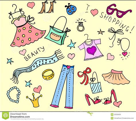 doodle shopping doodle shopping vector royalty free stock images image