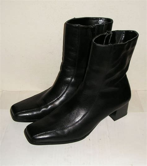 pesaro s black leather fashion ankle boots shoes