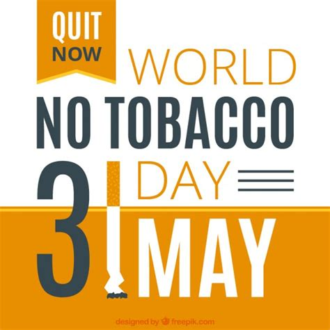 quit now world no tobacco day 31 may card