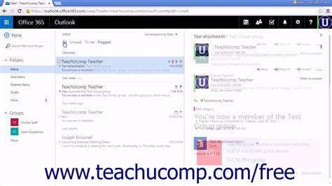 tutorial excel web app outlook web app tutorial filtering and sorting messages in